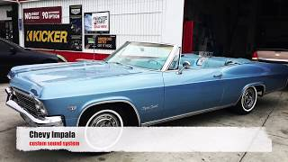 chevy impala 1965 custom JL Audio sound system