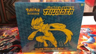 Lost Thunder Elite Trainer Box Opening!! Does my luck continue?