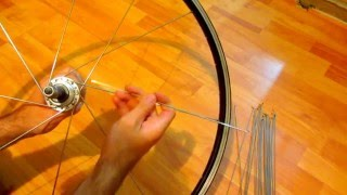 How to build a Bicycle Wheel (32 Spoke Rear wheel)