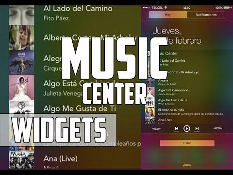 Music Center - Música en centro de notificaciones (Widget) (Aplicación) (iOS 8)