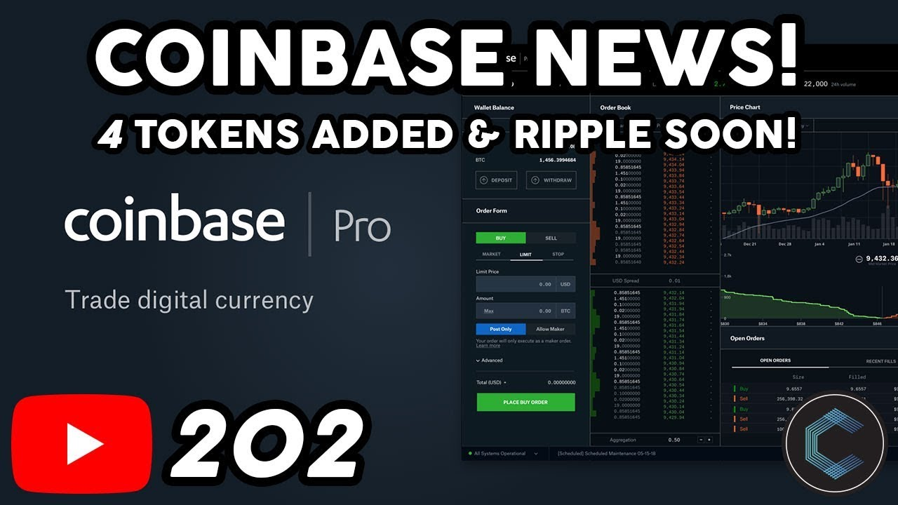 Coinbase Adds 4 New Cryptocurrencies Support for Ripple is being Explored