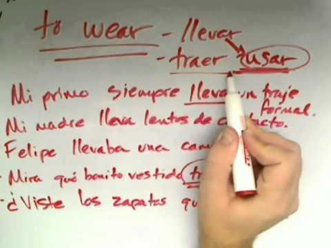 Similarities and Differences between the Spanish Verbs Llevar and Traer