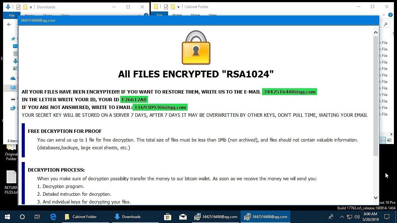 AppCheck Anti-Ransomware : CrySis Ransomware  ( id-{Random} [3442516480@qq com] bat) Block Video