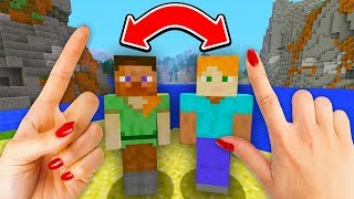 REALISTIC MINECRAFT - STEVE SWITCHES BODIES WITH ALEX!