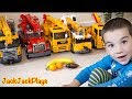 Crane Toy Trucks Fishing - Kids Playing with Toys Collection