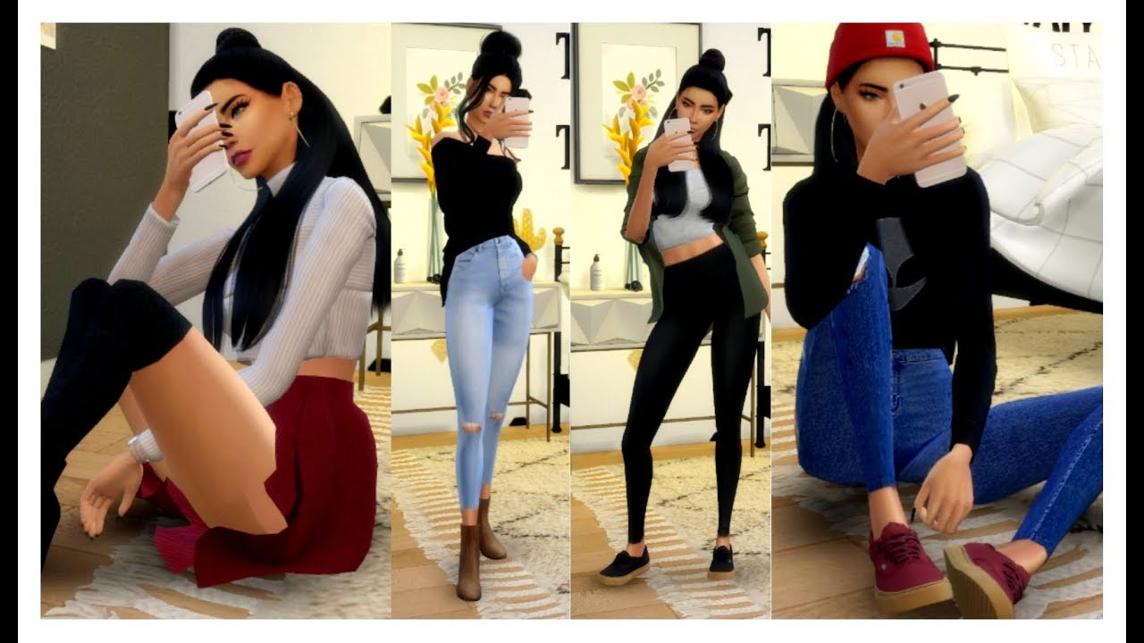 [VIDEO] - The Sims 4 | Outfits Of The Week | FALL OUTFIT IDEAS 2017 + CC List 1