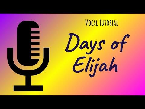 Days of Elijah - Tutorial for Choir - Soprano, Alto, Tenor and Bass ...