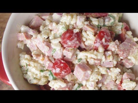 How To Make BBQ Pork & Tomatoes Rice Salad - Recipe