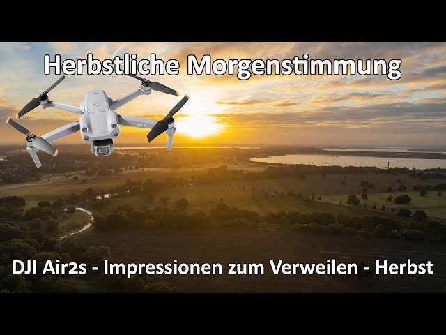 DJI Air 2s - Morgendlicher Flug durch den Herbstnebel direkt in den Sonnenaufgang - Kurzvideo