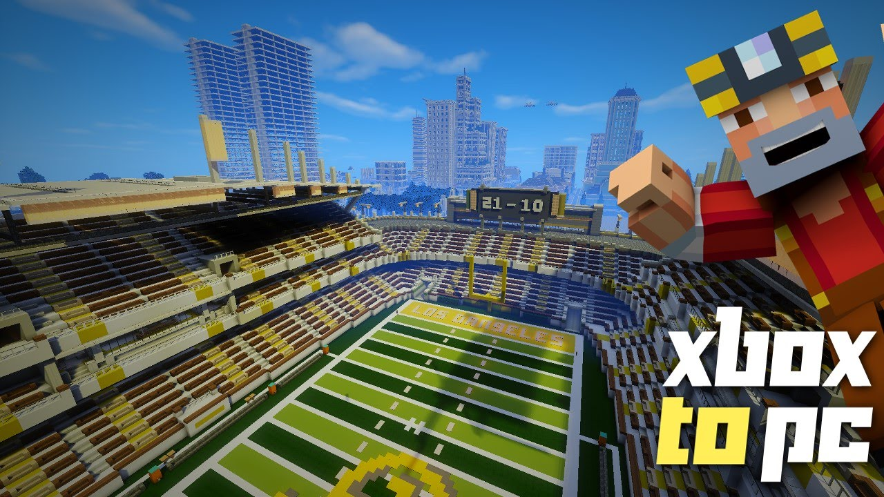 Minecraft Xbox To PC Los Dangeles Conversion Special Stadium Shaders And More YouTube