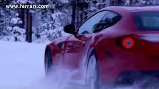 Машины, Феррари (Ferrari FF) на снегу.flv