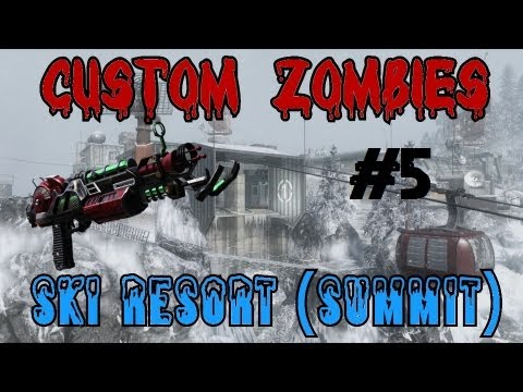 Custom Zombies - Ski Resort (Summit): Upgrading A Few More Guns And Ending It (Part 5)