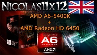 amd a6 5400k apu in dual graphics with the amd radeon hd 6450 review