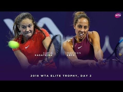 Daria Kasatkina vs. Madison Keys | 2018 WTA Elite Trophy Day 2 | WTA Highlights