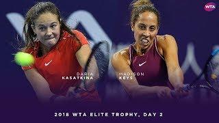 Daria Kasatkina vs. Madison Keys | 2018 WTA Elite Trophy Day 2 | WTA Highlights