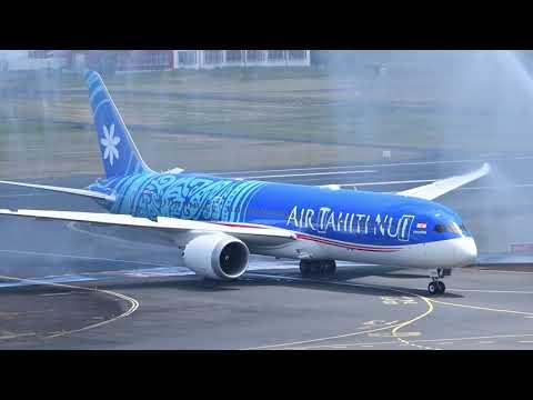 Arrivée du 1er Dreamliner d\'Air Tahiti Nui à Tahiti