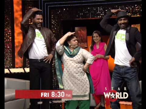 Prabhu Deva, Saroj Khan and Remo D'Souza on The Front Row
