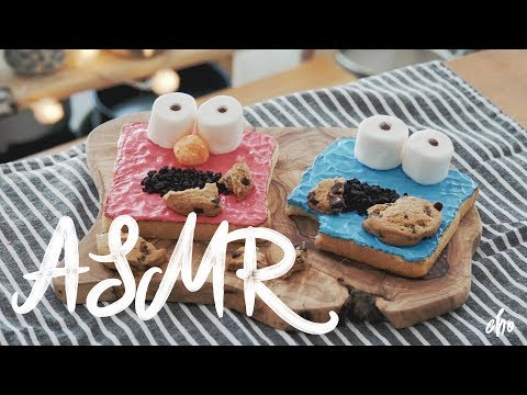 [ASMR] COOKIE MONSTER 🍪 TOAST (Toast Art) ~* : Cho's daily cook