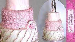 Perfectly Pink Wedding Cake