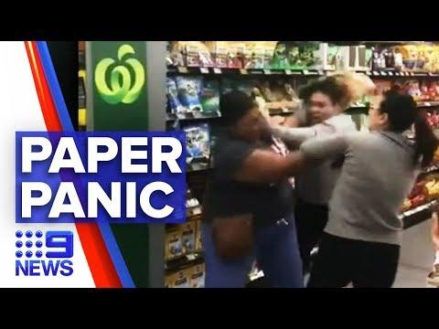 Coronavirus: Toilet paper argument turns violent | Nine News Australia