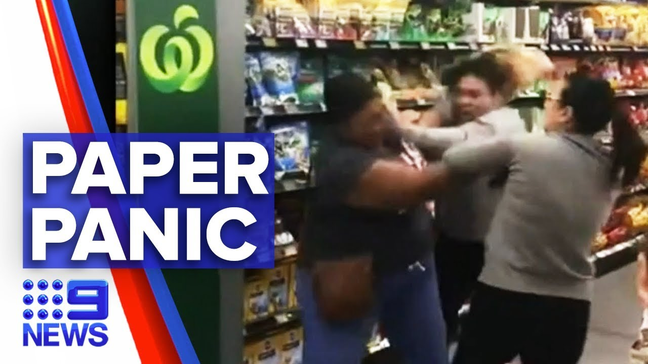 coronavirus toilet paper argument turns violent 9news