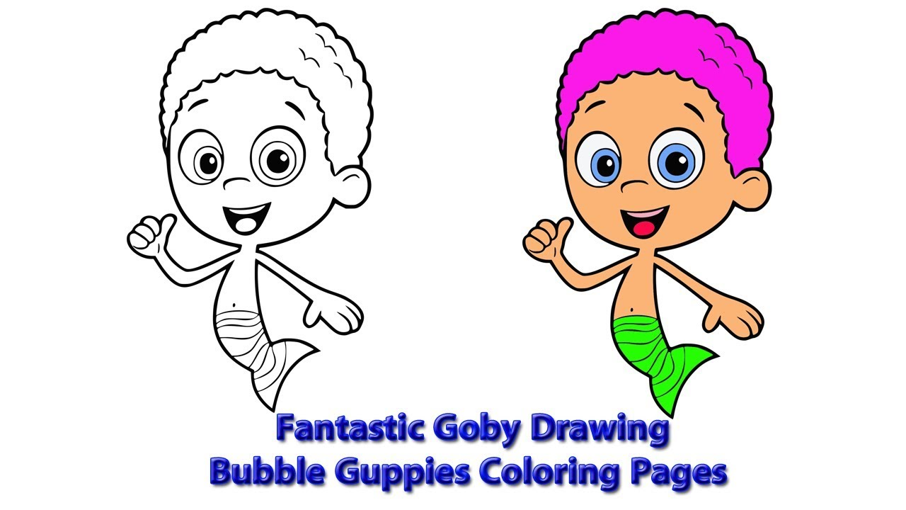 Fantastic Goby Drawing | Bubble Guppies Coloring Pages - YouTube