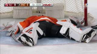 Neuvirth Stretchered Off Ice After Scary Collapse | April 1, 2017