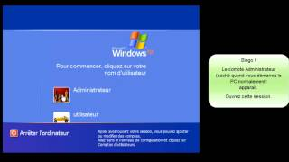 Changer le mot de passe de session perdu sous Windows XP