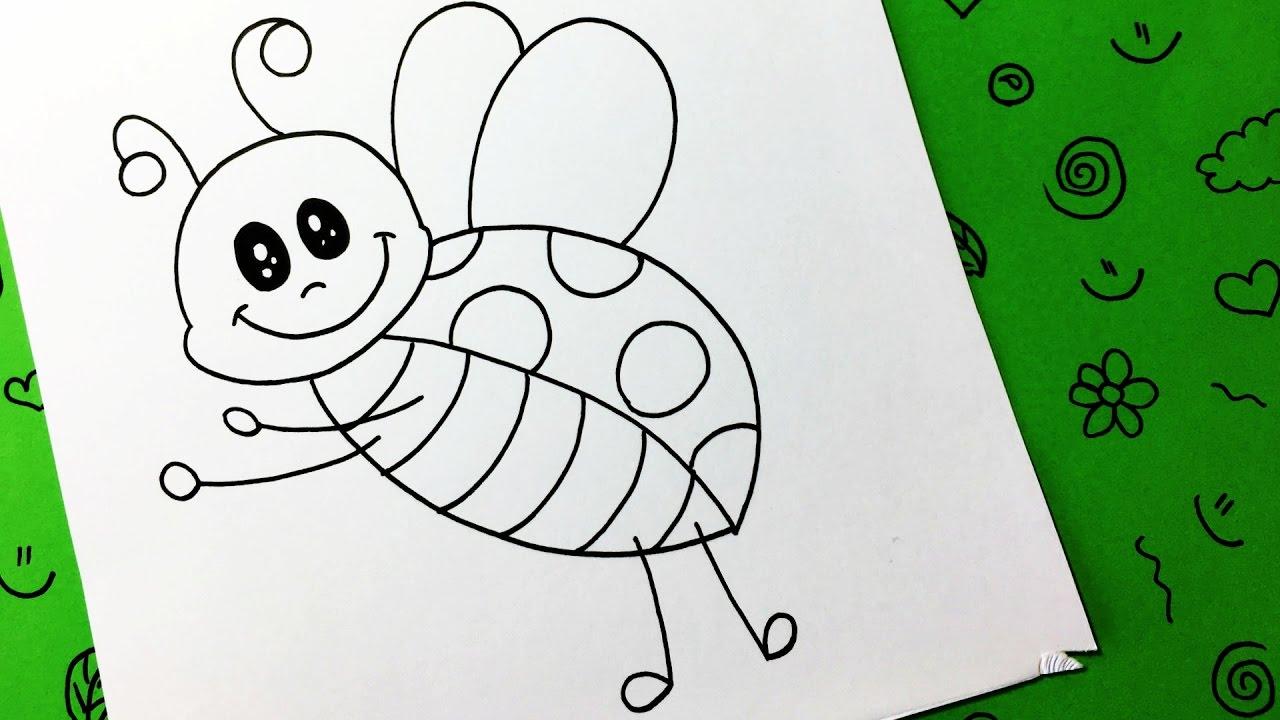Como dibujar una mariquita paso a paso / how to draw a ladybug - YouTube