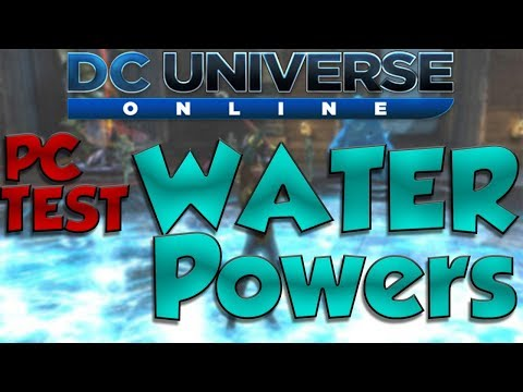 DC Universe Online - WATER POWERS ON TEST! (DPS Loadout testing + Skill points)