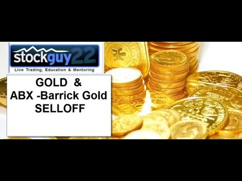 Panic Gold Selling Friday April 12th  and ABX (Barrick Gold Chart )