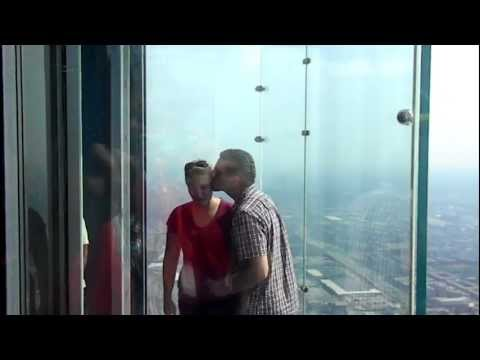 Gabe and Jen Proposal at Skydeck, Willis Tower, Chicago, IL