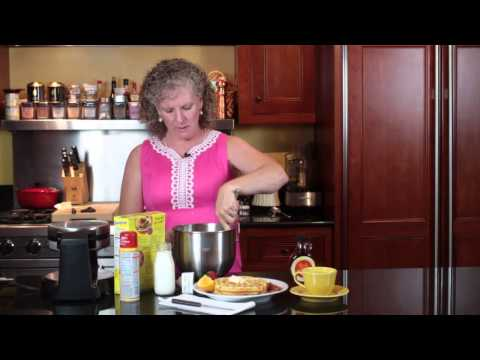 How To Make Waffles In A Waffle Maker With Pancake Mix For Six To Nine P... : Easy Southern Cooking