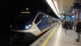 (4K) NS SNG 2316+2725 vertrekken van station Schiphol Airport