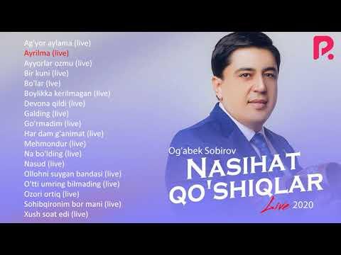 Og'abek Sobirov - Nasihat qo'shiqlar nomli jonli ijro albom dasturi 2020