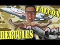 HERCULES C130, FALCON 2000S - F-Air 2017, Video Blog 3 . (#74)