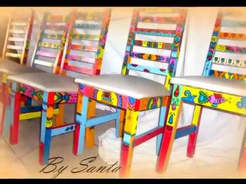 Decoracion muebles pintados locura que cura youtube - Muebles de colores pintados ...