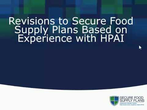 Update on the Secure Food Supply Plans