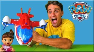 Paw Patrol Air Patroller Saves Baby Alive !   || Toy Review || Konas2002