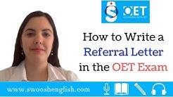 How to Write a Referral Letter in the OET Exam