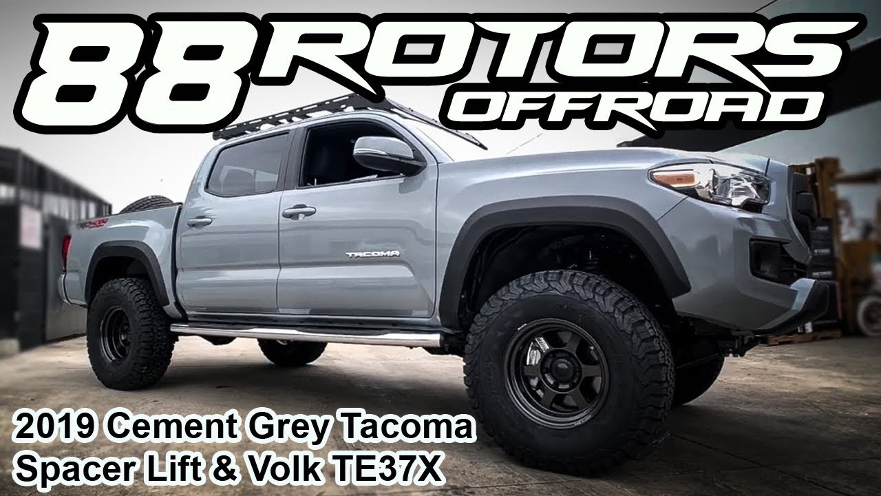 2019 Toyota Tacoma Lifted On Volk Racing Te37x 16x8 20 Offset Youtube