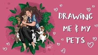 me & my pets ♡ speed digital illustration