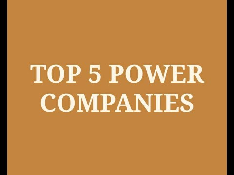 Top Electricity Companies in India 2020