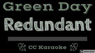 Green Day • Redundant (CC) [Karaoke Instrumental Lyrics]