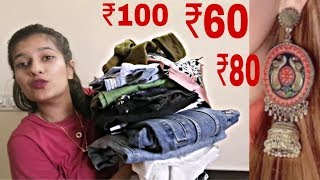 Sarojini Nagar 2019 Collection Haul | Tops, Jeans, Earrings, Bags | Varshika Singh
