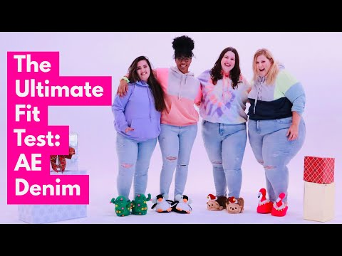 3 Plus Size Girls Try AE Jeans For The First Time