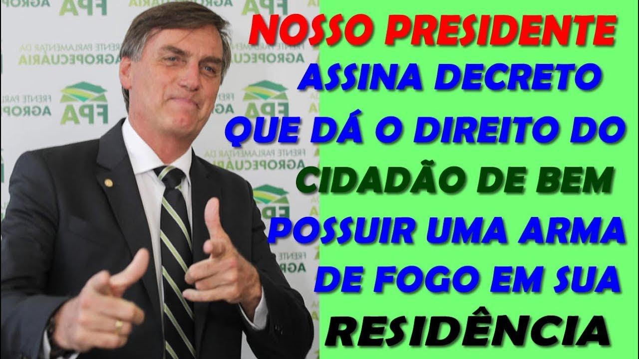 POSSE DE ARMA AUTORIZADO! PRESIDENTE BOLSONARO ASSINARÁ O DECRETO.