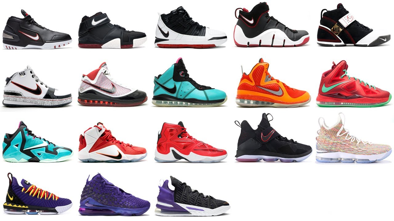 ala Susteen internacional  Nike LeBron Shoes 1 - 18 (Sneaker Evolution) - YouTube