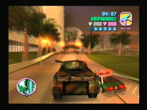 grand theft auto vice city ps2 tank rampage 2 youtube