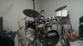 10 year old Trevor playing Van Halen beat